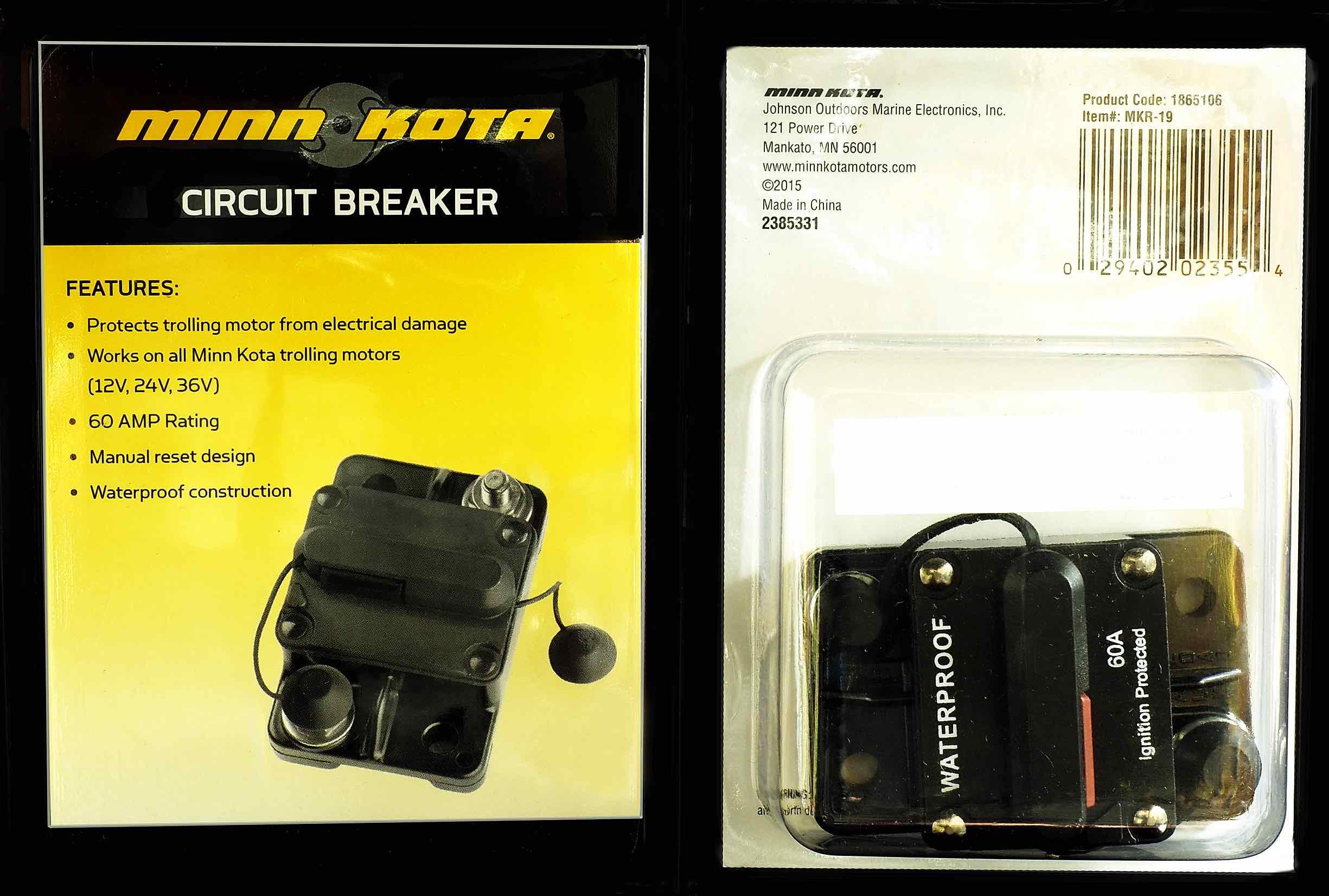 Minn Kota 1865106 Mkr-19 60amp Circuit Breaker for sale online