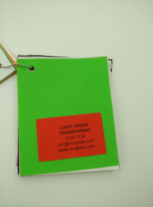 Light Green EVAVISION transparent EVA interlayer film for laminated safety glass (4)