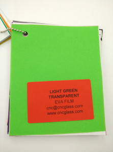 Light Green EVAVISION transparent EVA interlayer film for laminated safety glass (42)