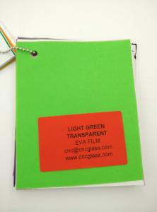 Light Green EVAVISION transparent EVA interlayer film for laminated safety glass (44)