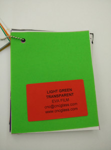 Light Green EVAVISION transparent EVA interlayer film for laminated safety glass (45)