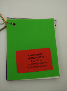 Light Green EVAVISION transparent EVA interlayer film for laminated safety glass (46)