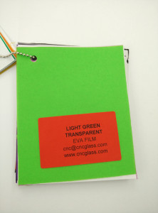 Light Green EVAVISION transparent EVA interlayer film for laminated safety glass (50)