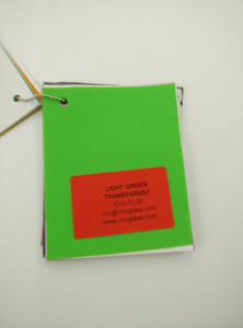 Light Green EVAVISION transparent EVA interlayer film for laminated safety glass (51)