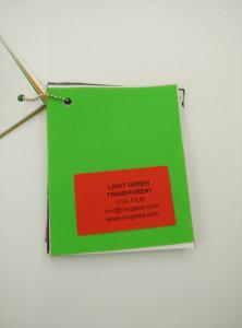 Light Green EVAVISION transparent EVA interlayer film for laminated safety glass (52)