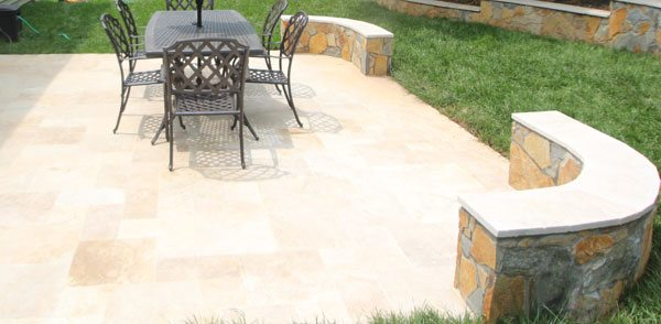 ivory travertine patio pavers mclean