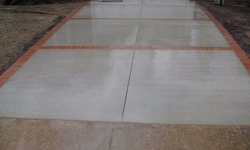 Brick Lined concrete driveway Fairfax Virginia