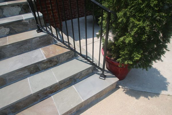 wrought iron railing repair and flagstone repair in northern Virginia