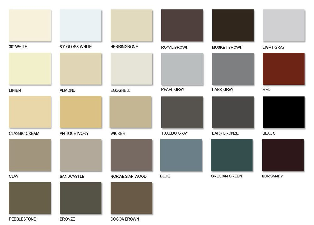 aluminum gutter stock colors