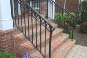 custom fabricated ornamental wrought iron railing McLean va