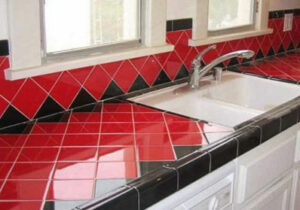 Fairfax ceramic tile kitchen countertop