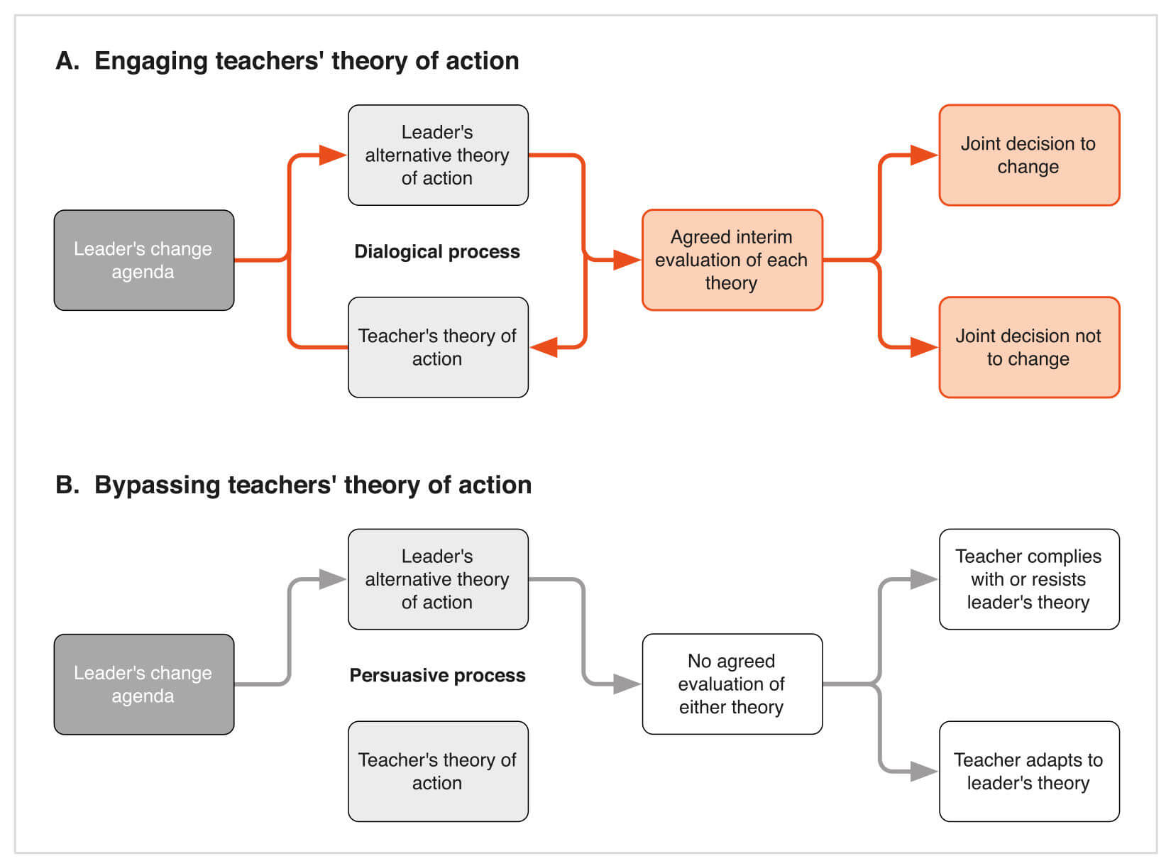 Theory of Action Flow Diagram