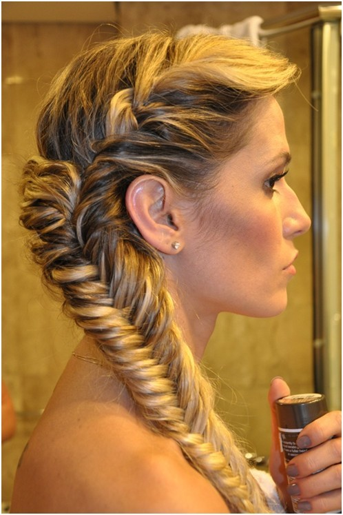 Fishtail braid for parties