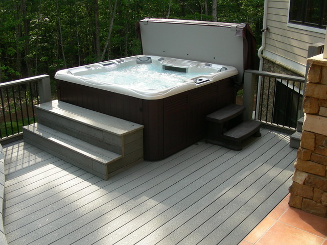 Great Hot Tub Deck Design modern