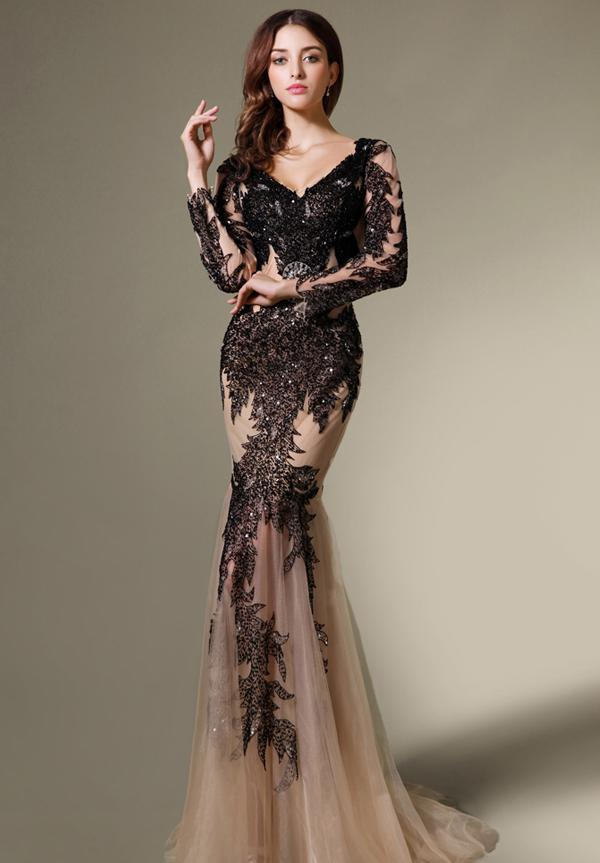 See-through-Embellish-Lace-Evening-Pageant-Dress