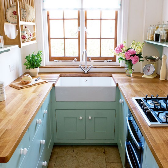 Small-green-and-white-kitchen