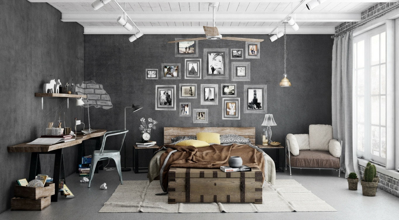 bedroom-cool-bedroom-design-with-cold-and-warm-concept-industrial-bedroom