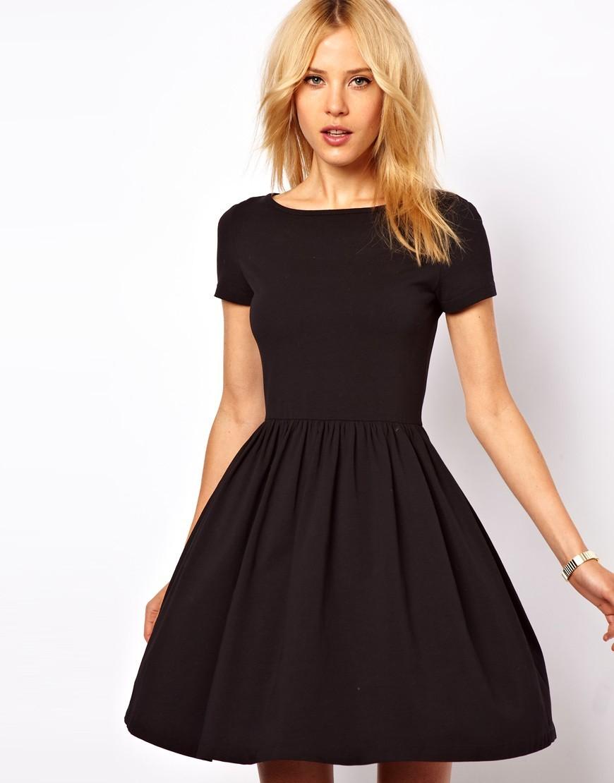 simple-A-line-little-black-dresses