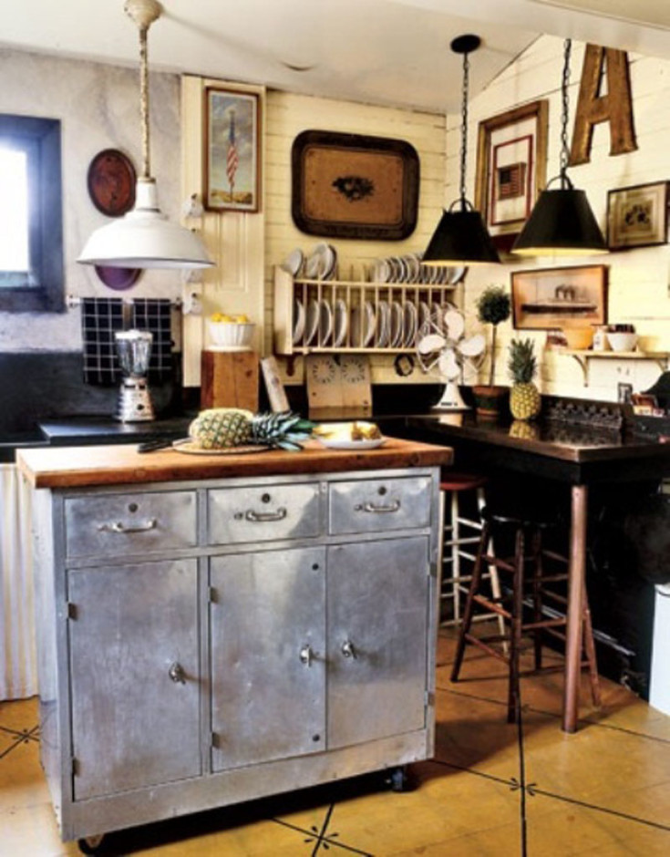 small-metal-kitchen-island-with-wooden-countertops