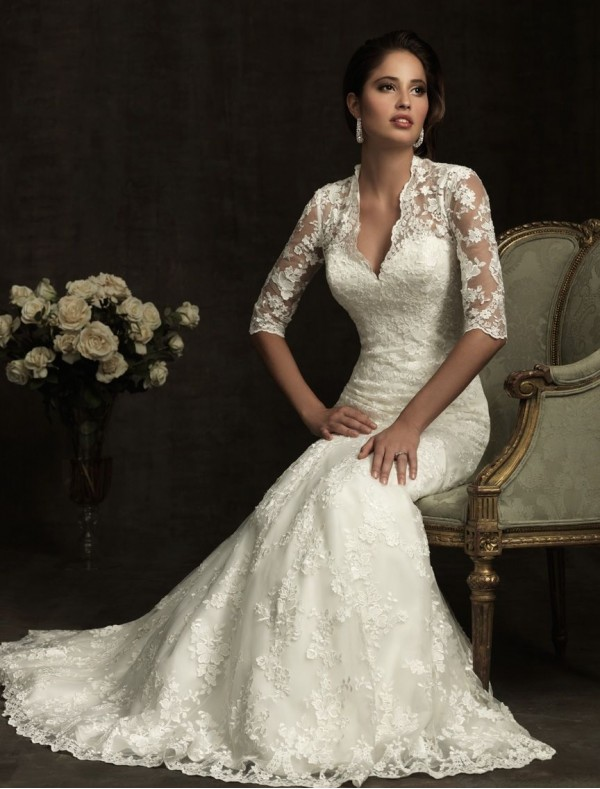 vintage-lace-wedding-dresses-with-sleeves