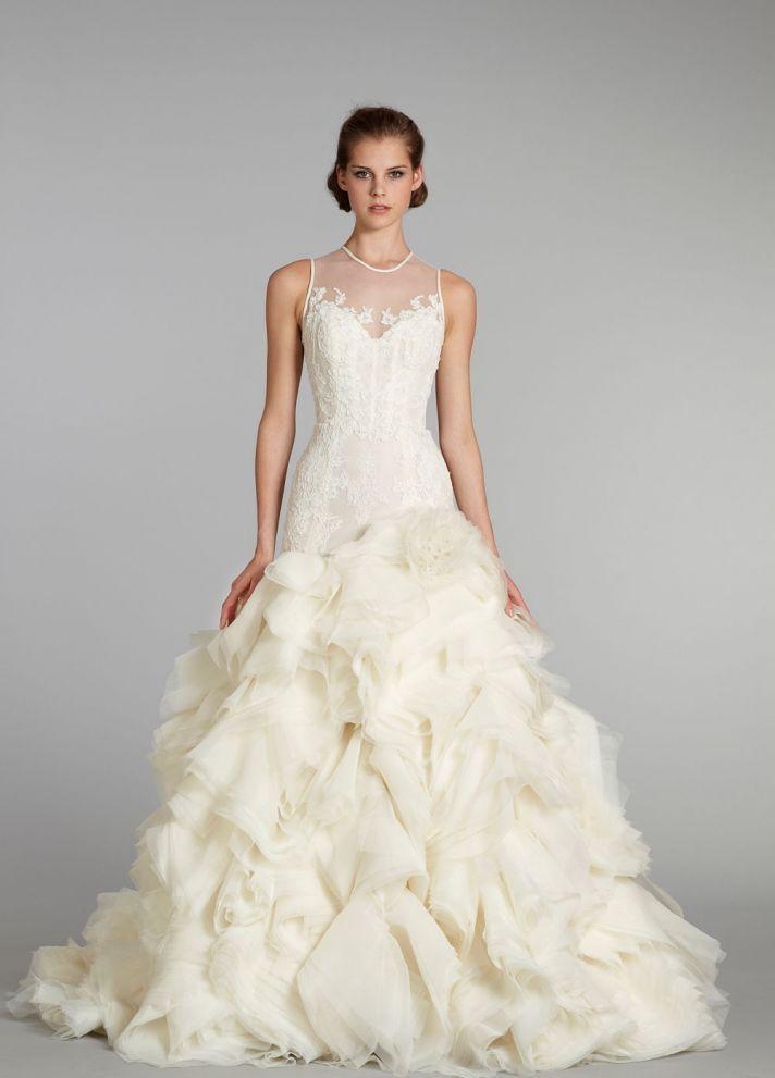 wedding dress Lazaro bridal gowns
