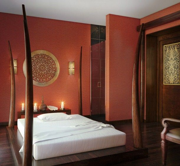 Artistic Asian bedroom decor