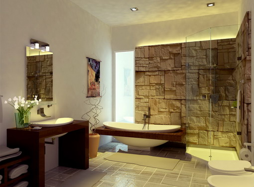 Asian-Bathroom-Designs-with-Modern-Decoration