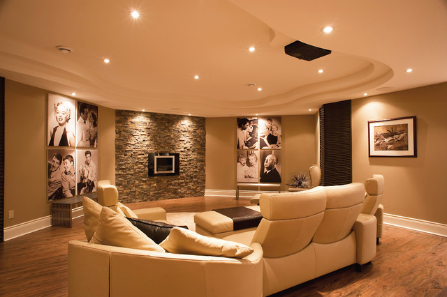 Award Winning Basement contemporary-basement
