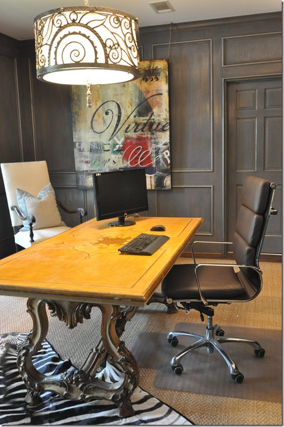 Brilliant-Modern-Chairs-Classic-Table-Eclectic-Men-Office-Design-Ideas