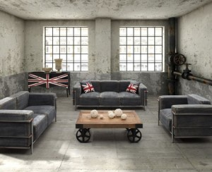 25 Best Industrial Living Room Designs