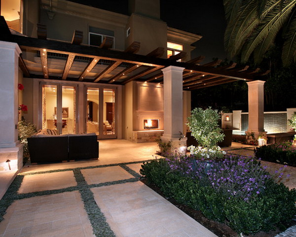 Custom-European-Wooden-Covered-Patio-Entry-Decorating-Ideas