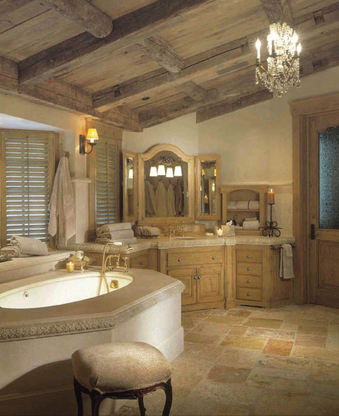 Elegant-and-Classy-Rustic-Traditional-Bathroom-Designs