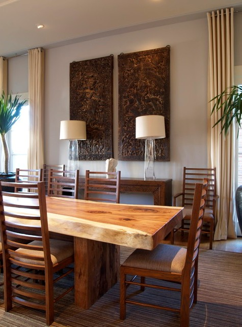 Interesting-Asian-Dining-Room-Colors-Design-Ideas-Contemporary-Dining-Room-Wood-Modern-Dining-Table-Room-Designs-Slab