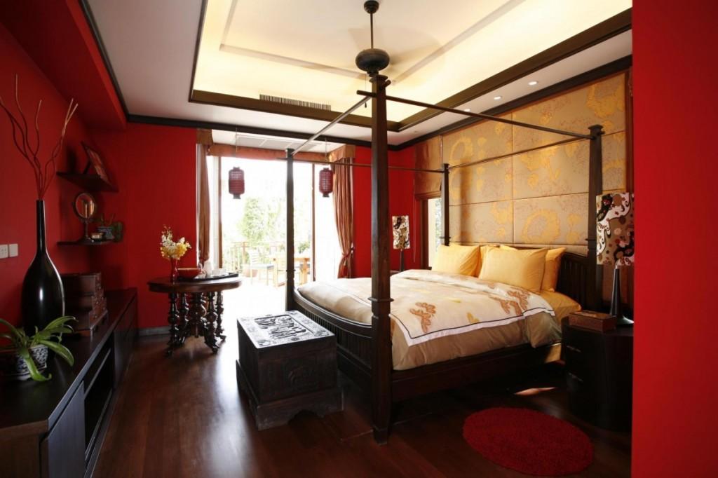 Luxury-Red-Asian-Bedroom-Design