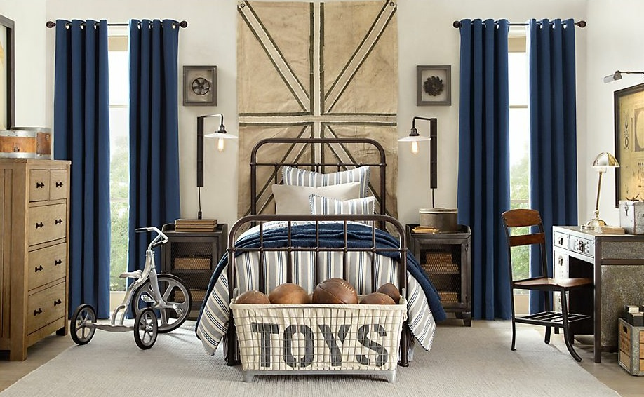 Modern-boys-bedroom-with-decor-with-single-bed-and-night-stand-and-table-lamp-and-study-table-and-Chest-of-Drawer-also-blue-curtain