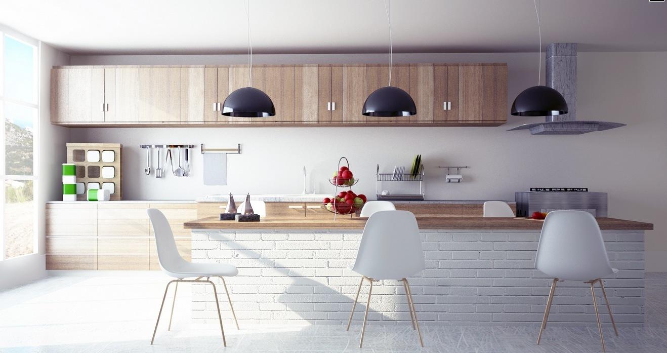 Modern-wooden-kitchen