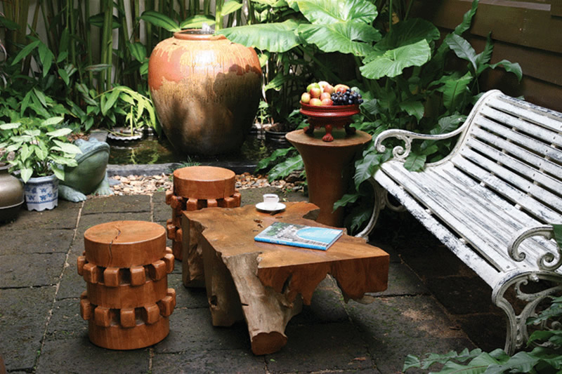 Rustic Contemporary Wooden Stools