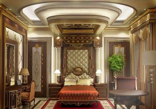 Traditional-Bedroom-Designs-combination-of-warm-tones-makes-it-relaxing-and-welcoming-and-the-usage-of-ornate-pieces