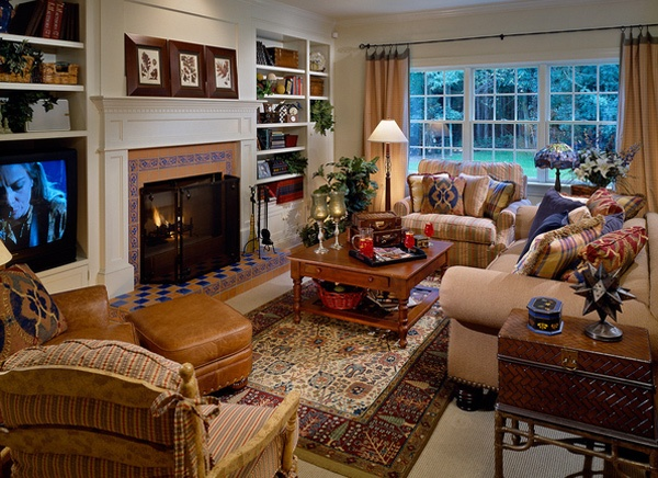 Warm and Cozy Country Inspired Living Room Design Ideas