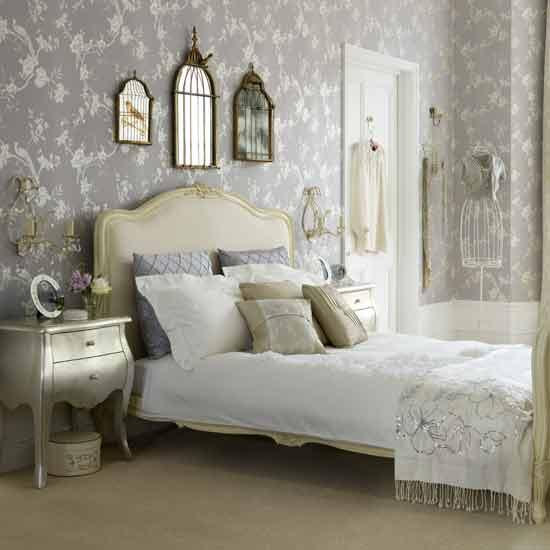 Elegant Shabby Chic Bedroom Retro Interior Design Ideas Floral Bed Sheet Decor