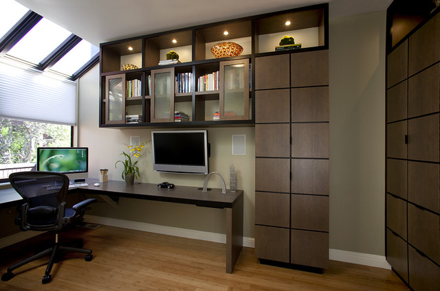 contemporary-home-office-modern-study-room-design-contemporary-office-furniture-home-corner-desk-custom-cabinetry-custom-deskbookshelves