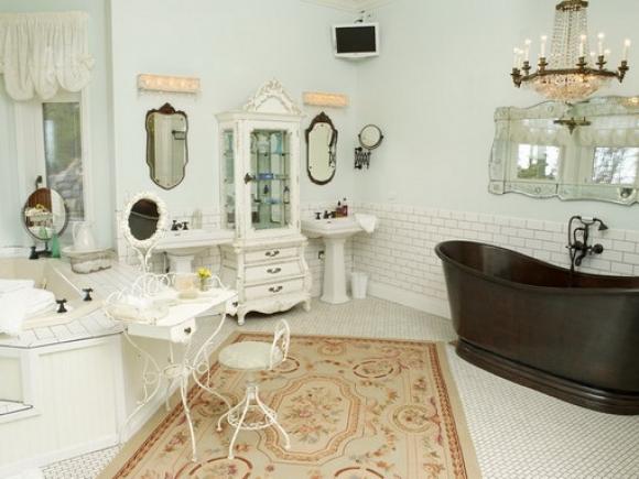 dark-tubs-in-eclectic-bathroom-design