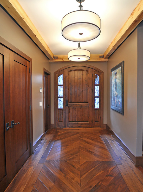 exciting-traditional-entry-design-with-cool-wood-floor-patterns