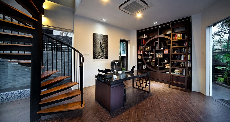 home-office-combines-modern-aesthetics-with-Asian-style