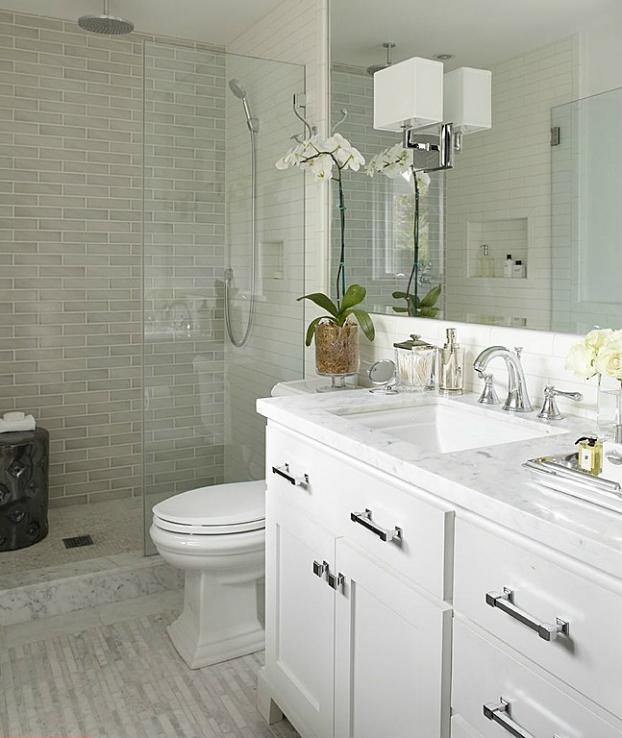 Modern White Bathroom Decorating Ideas Image Of Bathroom And Closet
