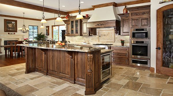 traditional-cabinet-kitchen-design-with-astonishing-decoration