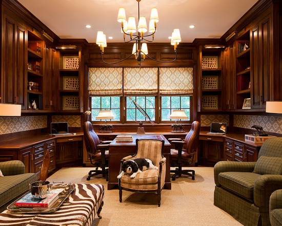 Awesome Traditional Style Home Office Design