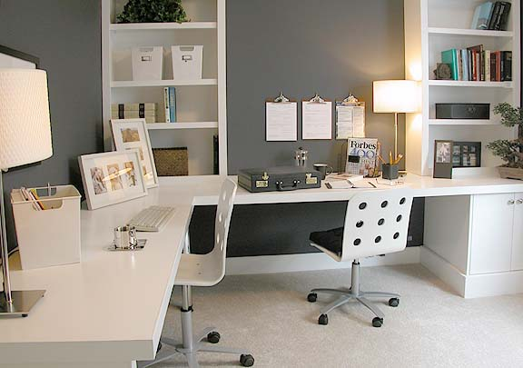 white home office ideas
