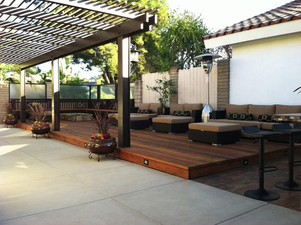 Asian Outdoor Lounge With Pergola
