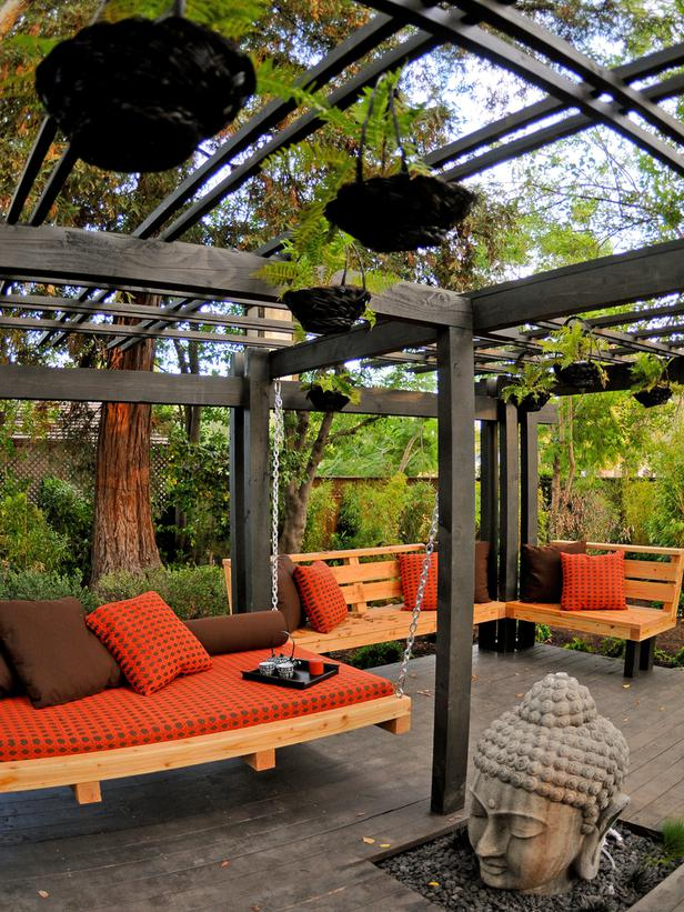 Asian-Themed Outdoor Room